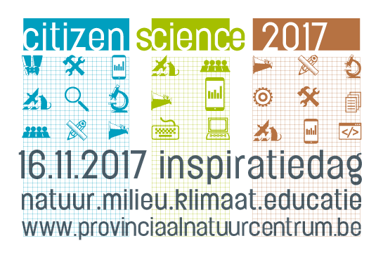 citizen sciens 2017 op 16 november - inspiratiedag - natuur/milieu/klimaat/educatie